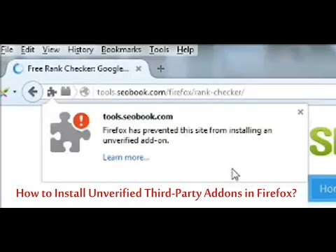 How to Install Unverified/Third-Party Addons in Firefox?