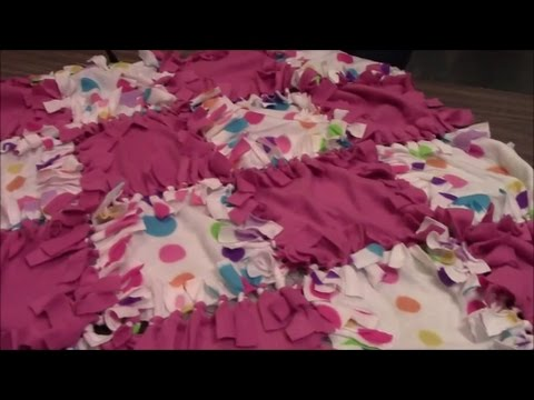 How to Make a No Sew Patchwork Fleece Blanket