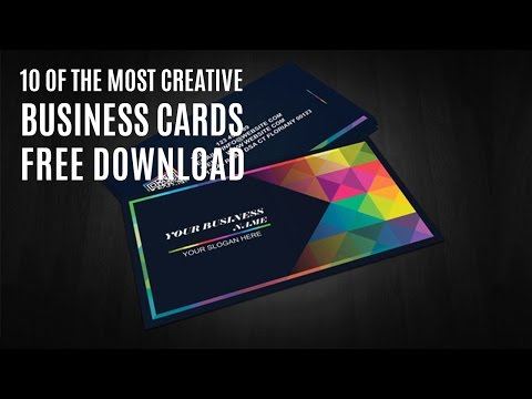 10 Of The Most Creative Business Cards free download