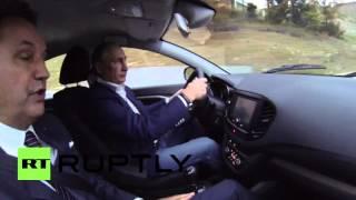 Russia: Putin takes to the wheel of the new Lada Vesta