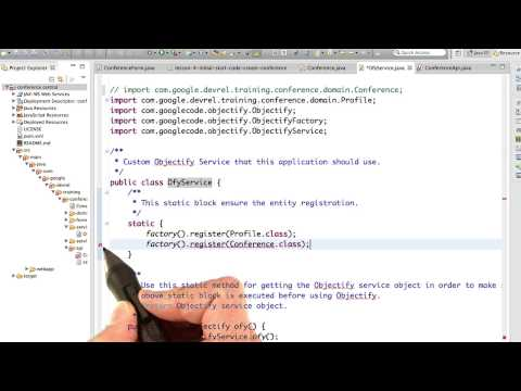 Registering An Entity Class - Developing Scalable Apps with Java