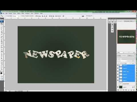 Photoshop Tutorial: Newspaper Text Effect
