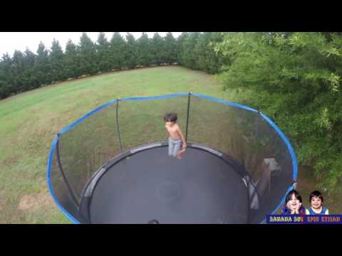 Trampoline Flips! Boys learning how to... #17