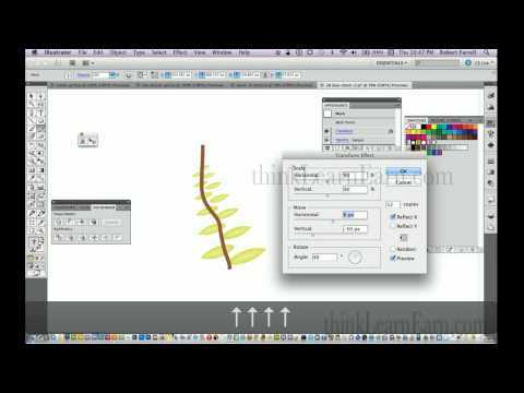 Adobe Illustrator CS6 - Transform FX Create leaves and tree and dynamic effects master tutorials