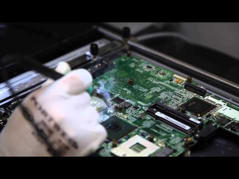TFix HP motherboard IC Removal and PCB cleaning at SMT Lab