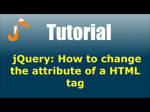 jQuery: How to change the attribute of a HTML tag