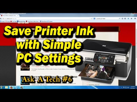 Save Printer Ink with Simple PC Settings - Ask a Tech #6