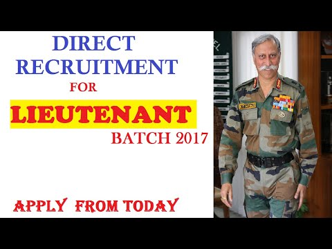 Lieutenant recruitment 2018 batch indian army ncc special entry & jag entry age education vacancy