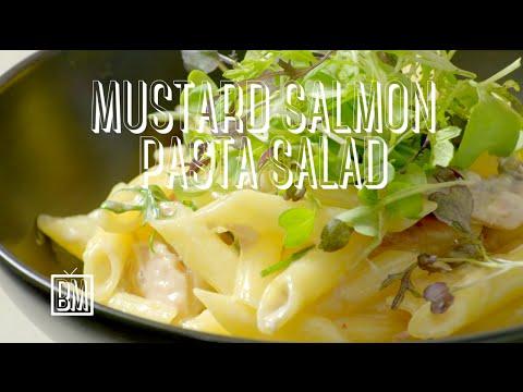 Ben's Mustard Salmon Pasta Salad