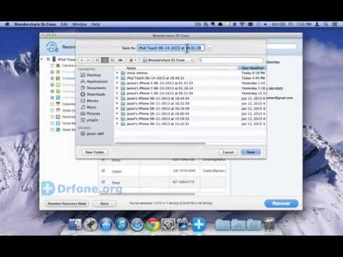 iPod Touch Data Recovery: How to Recover iPod Touch 5 Contacts from iTunes Backup(Mac)