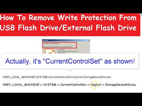 How to remove write protection error from USB flash drive  - Paul Facey