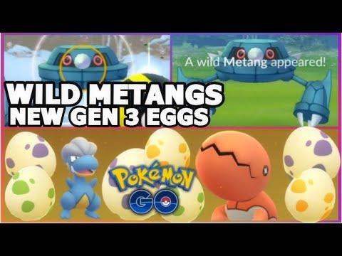 WILD METANGS IN POKEMON GO | NEW GEN 3 EGGS 10KM,5KM & 2KM HATCHES | RARE POKEMON BAGON +MORE