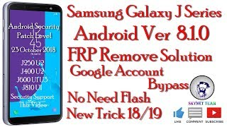 Samsung j6 sm-j600g-j600f frp unlock||Google account bypass without
