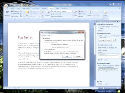 How To Lock & Protect Microsoft Word Documents