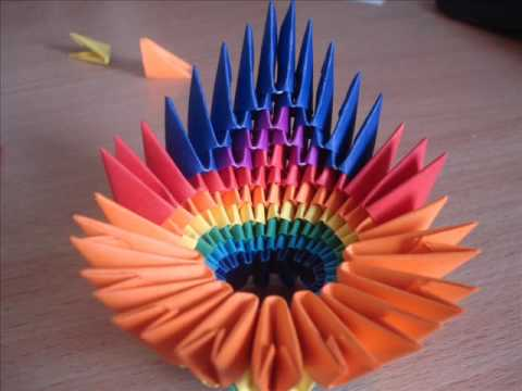3D ORIGAMI COLOURFUL PEACOCK