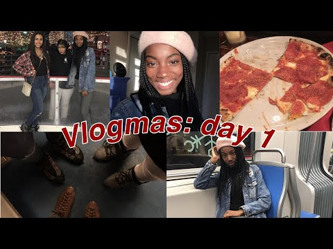 ICE SKATING FOR THE FIRST TIME | VLOGMAS DAY 1