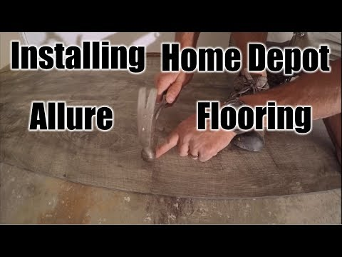 How To Install Home Depot Allure Flooring | THE HANDYMAN