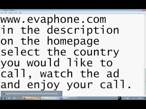 How to make free International calls to many destinations