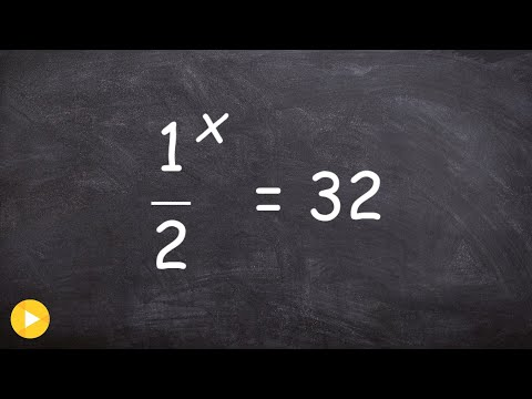 Solve an exponential equation when your base is a fraction