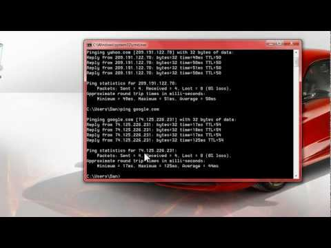 How to find out the IP address of any website by using the windows PING Command