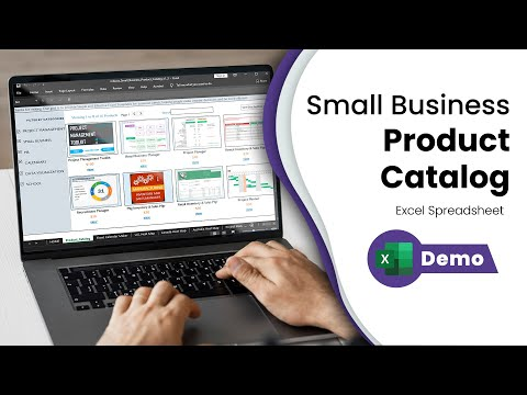 Create your own Small Business Product Catalog - Free Excel Template - Tour