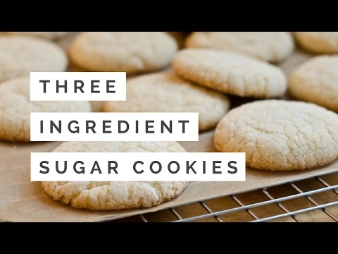 3-Ingredient SUGAR COOKIES | Kris in the Kitchen!