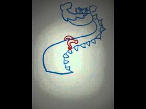 How to draw : candy crush saga dragon