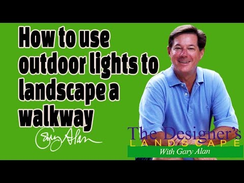 How to use lighting to landscape a walkway Designers Landscape#624