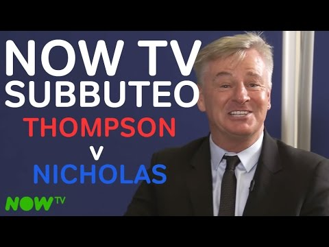 Thompson v Nicholas   Sky Sports Pundits clash   NOW TV Subbuteo