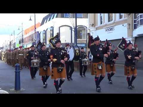 Royal Irish Regimental Pipe Band @ Coleraine Remembrance Sunday Parade 2017