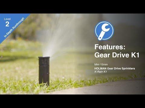 Features of the K-Rain K1 Gear Drive Sprinkler