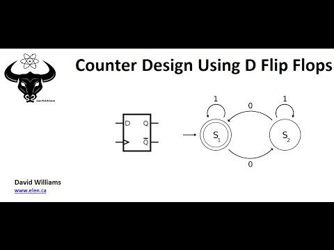 Design a Synchronous Counter Using D Flip Flops