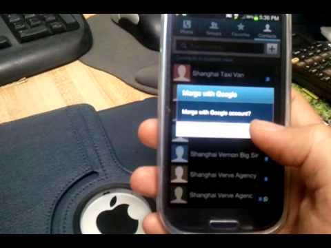 Galaxy s3: back up contacts via gmail/google mail