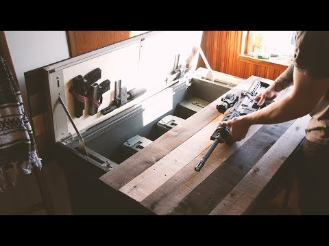 -DIY- Beautiful Rustic Table W/ Secret Storage Compartment (For Candy, Honest)
