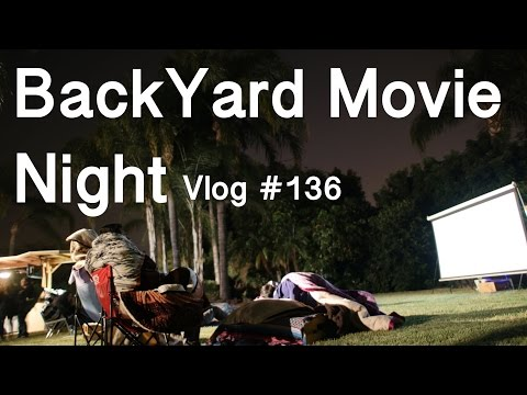 Back Yard Movie Night Ruined By Cops  -  Vlog #136