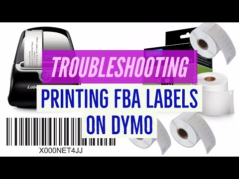TROUBLESHOOTING PRINTING Amazon FBA Stickers / Labels on DYMO, ZEBRA, A4 etc.