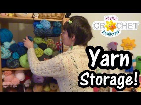 Yarn Storage Ideas - Crochet Quick Tips