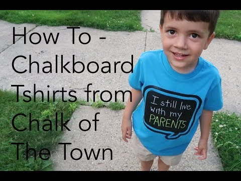 How To - Chalkboard T-shirt Chalk of The Town | Marvy Uchida