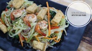 Stir-Fry Sayote with Tofu and Prawns