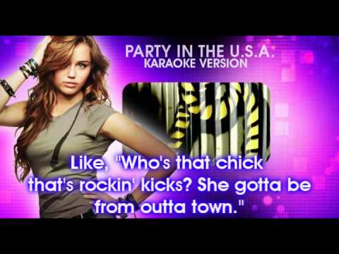 Party in the USA (Karaoke Version) [with backup] - Miley Cyrus