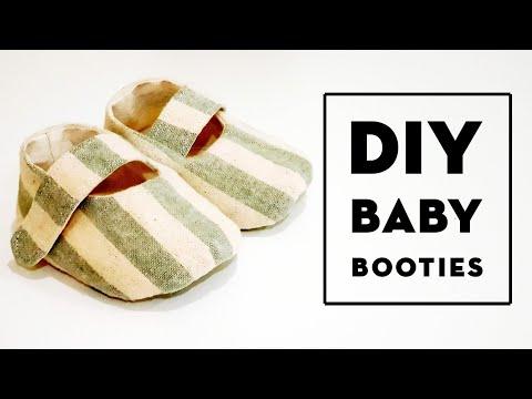 Diy Baby Booties   Free Pattern & Tutorial   这款婴儿鞋男女都适合喔❤❤