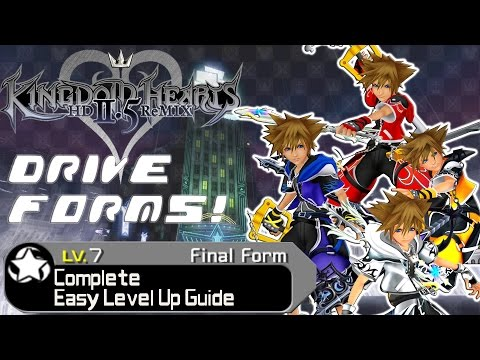 Kingdom Hearts HD 2.5 ReMIX - COMPLETE GUIDE: Drive Forms Easy Level Up (All Forms) (KH2 FM)