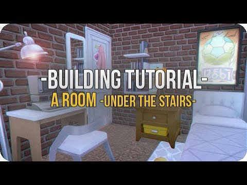 How To Build Under The Stairs || The Sims 4: Build Tutorial (Functional Bedroom)