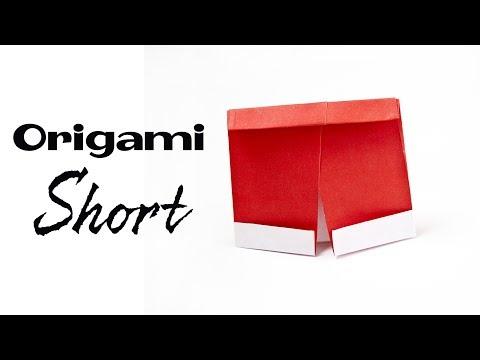 DIY : Origami Short Pants | Easy origami
