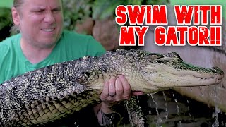 Download SWIMMING WITH MY GIANT PET ALLIGATOR!!   BRIAN BARCZYK Video