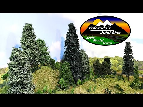 How To Make Evergreen Trees for Model Railroads and Dioramas
