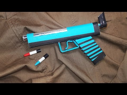 | DIY| How to make a paper ' WHIRLPOOL Gun ' that shoots paper bullets-Toy Weapons-By Dr. Origami
