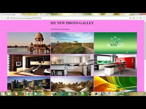 HOW TO CREATE A PHOTO GALLERY || PHOTO GALLERY KAISE BANAYE IN HTML