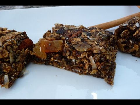 Healthy Granola Bars, Flax seeds, Chia Seeds and Prunes, how to recipe