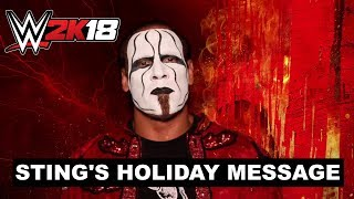 WWE 2K18 - Sting's Holiday Message